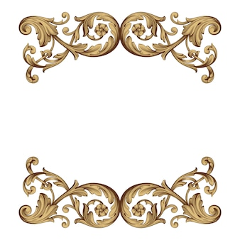 Classical baroque ornament. decorative design element filigree.