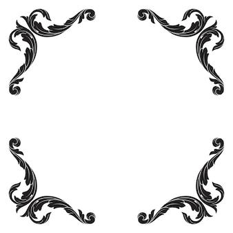 Classical baroque ornament. decorative design element filigree.