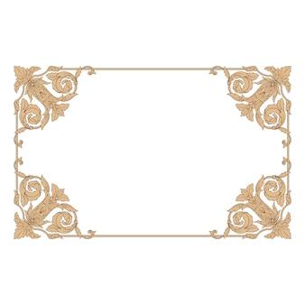 Классический орнамент в стиле барокко. декоративный элемент дизайна филигранный.