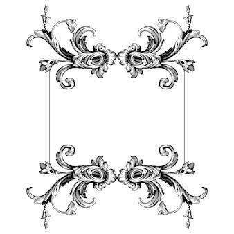 Классический барочный набор винтажных элементов для дизайна. декоративный элемент дизайна филигранной каллиграфии.