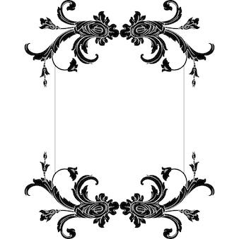Classical baroque   set of vintage elements for design. decorative design element filigree calligraphy  .