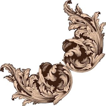 Classical baroque  set of vintage elements  .