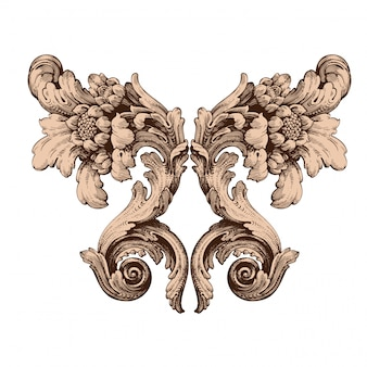 Classical baroque  set of vintage elements  .
