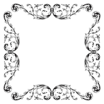 Классический барокко вектор старинный элемент дизайна. декоративный элемент дизайна филигранной каллиграфии вектор. вы можете использовать для свадебного оформления открытки и лазерной резки.