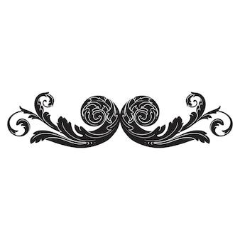 Classical baroque   of vintage element  . decorative design element filigree calligraphy  .