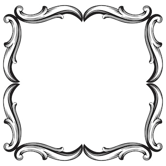Classical baroque   of vintage element for design. decorative design element filigree calligraphy  .
