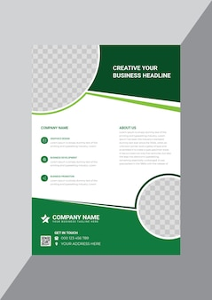 Classical corporate business flyer design template