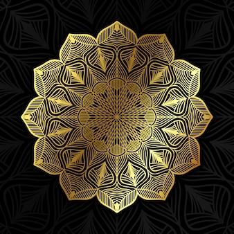 고전 황금 만다라 패턴