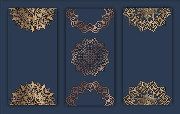 古典的な黄金のマンダラパターン