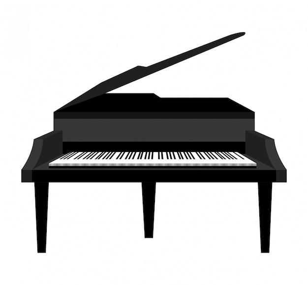 Classical grand piano illustration