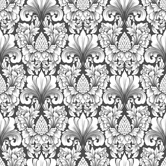 클래식 럭셔리 구식 다 마스크 장식 완벽 한 패턴