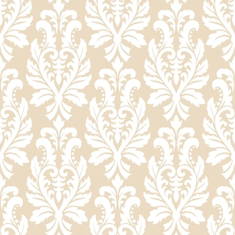 Classical luxury old fashioned damask ornament seamless pattern