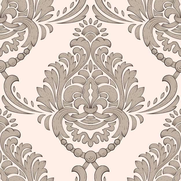Classical luxury old fashioned damask pattern