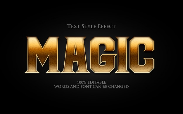 Classical magic text style effect