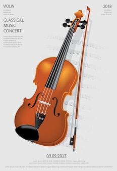 The classical music concept violin vector illustration