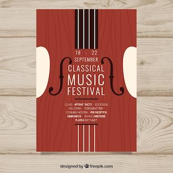 Modello di poster di musica classica