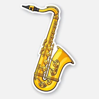 Классическая музыка духовой инструмент саксофон векторные иллюстрации
