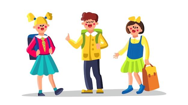 Classmates school children boy and girl