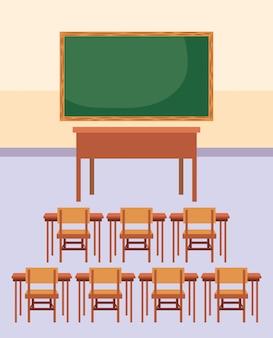 Classroom furniture cartoon