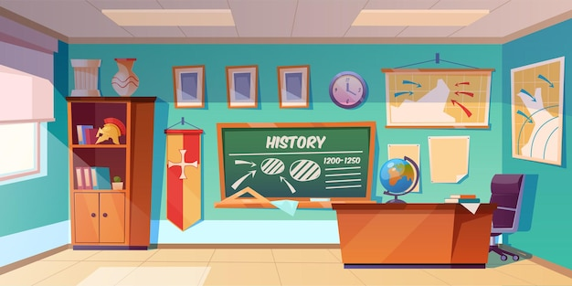 Aula di storia vuota