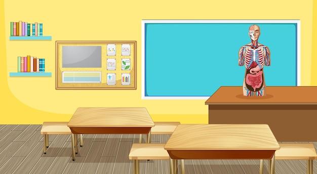 家具や装飾が施された教室のインテリアデザイン