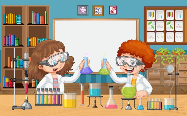 Classroom with children doing science experiment