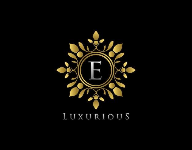 Classy boutique e letter logo.