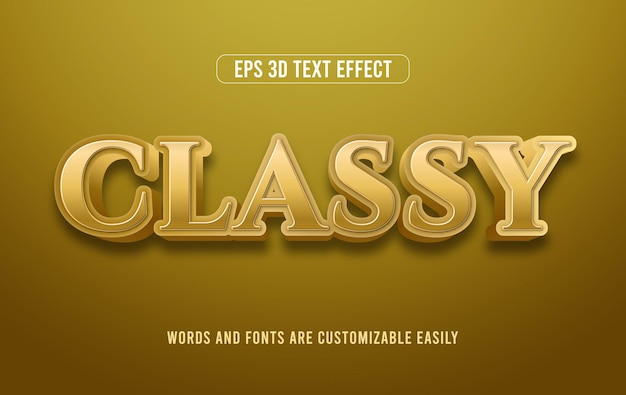 Стильный премиум золотой 3d векторный текстовый эффект