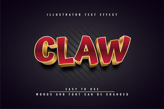 Claw - editable 3d golden text effect