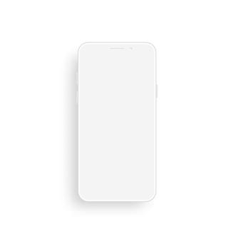 Глиняный смартфон вид спереди.