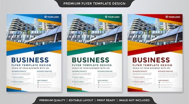 Clea flyer template premium style Premium Vector