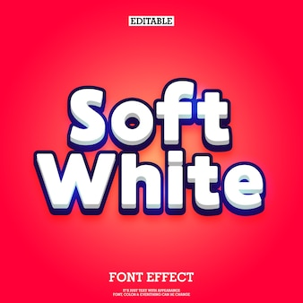 Clean 3d cartoon soft text effect with shine effect