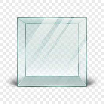 Clean 3d glass box