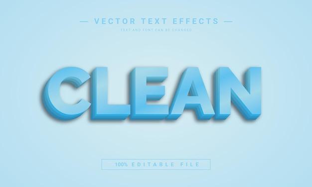 Clean 3d text effect template