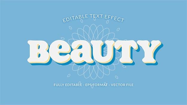 Чистый и смелый текстовый эффект с цветочным узором