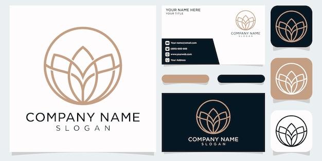 Чистый и элегантный абстрактный цветочный логотип