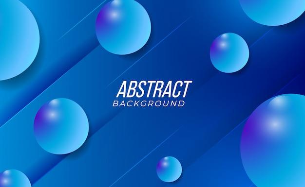 Чистый и современный красочный 3d синий абстрактный градиентный фон для абстрактного технологического интерьера моды