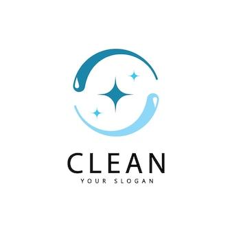 Креативные символы очистки и стирки, графический дизайн компании клининговых услуг