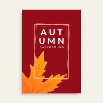 Clean autumn flyer design with text space