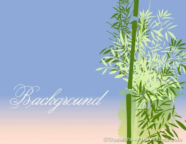 Clean bamboo tree vector background