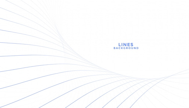 Clean blend of lines flowing white background