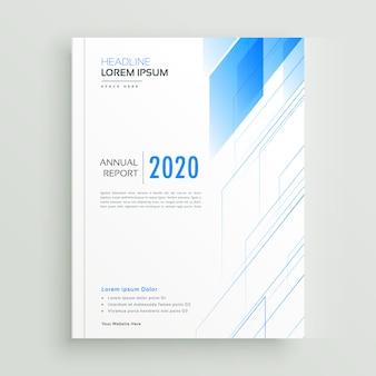 깨끗 한 블루 브로셔 또는 책 표지 서식 파일