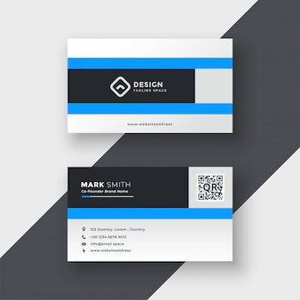Clean blue modern business card design