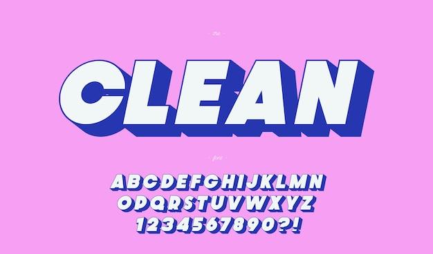 Чистый жирный шрифт типографики
