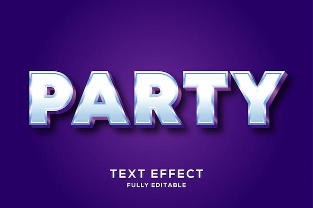 Clean bold party редактируемый текстовый эффект
