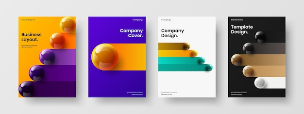 Clean book cover a4 design vector template collection