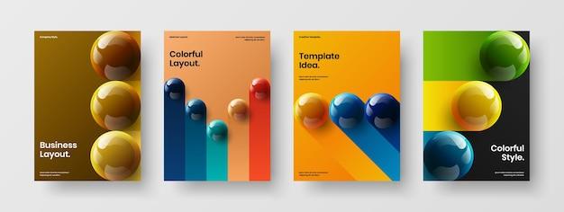Пакет концепции дизайна вектор чистой брошюры
