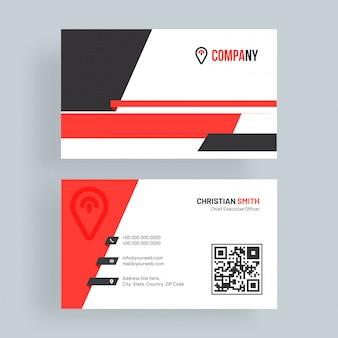 Clean business card.