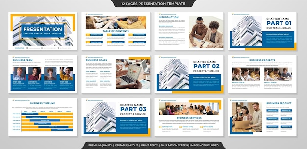 Clean business presentation template