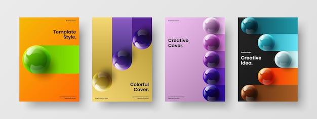 Чистая коллекция концепции дизайна вектор обложки каталога